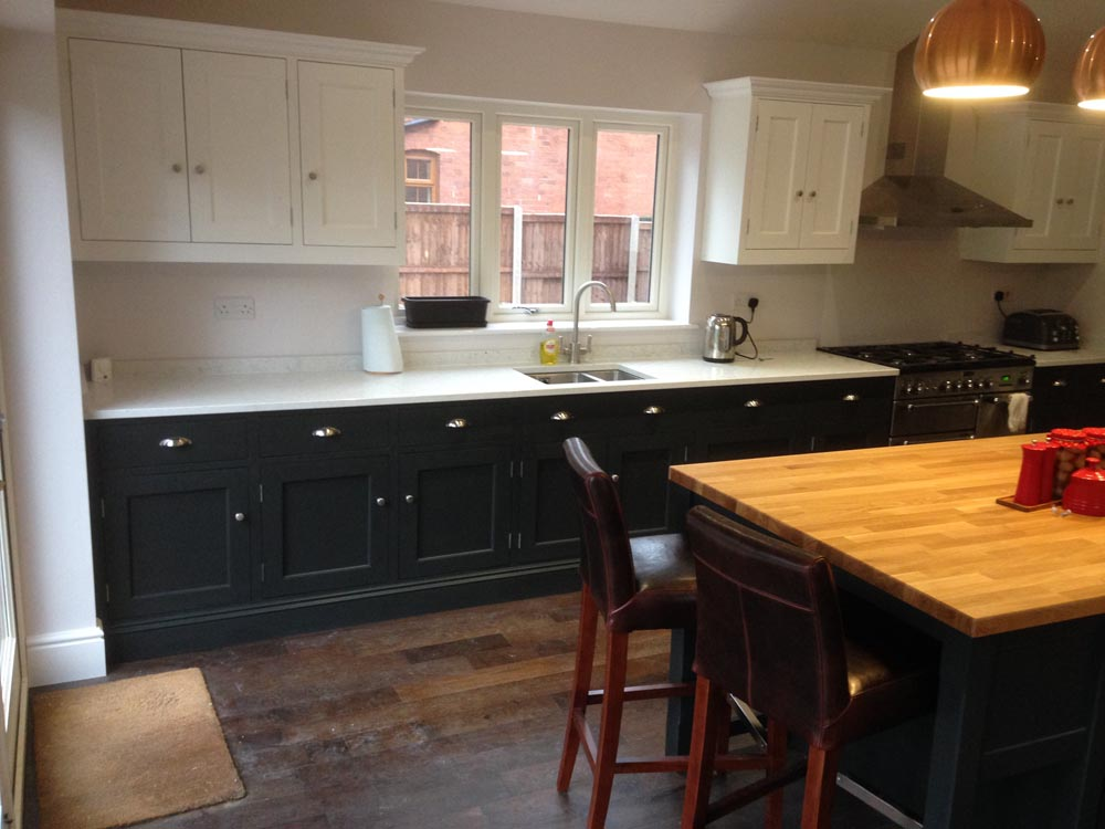 Gf Cabinet Makers Black White Kitchen2 Gf Cabinet Makers