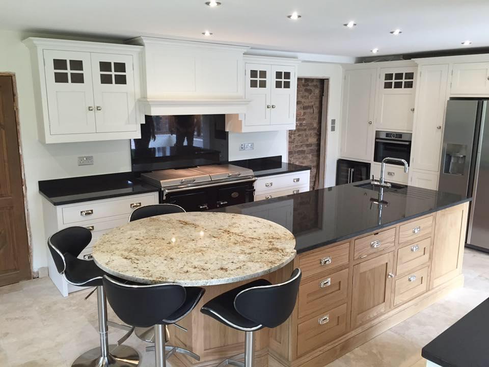 Cream And Oak Bespoke Kitchen Gf Cabinet Makers